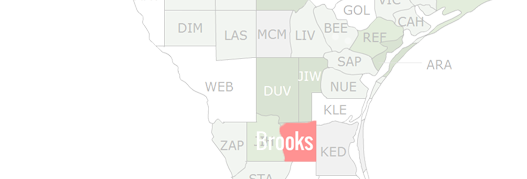 Brooks County Map