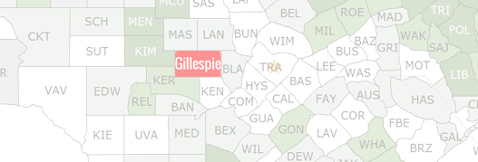Gillespie County Map