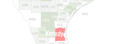 Kenedy County Map