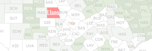 1856 TEXAS MAP TX LEE LEON LIBERTY LIMESTONE LIPSCOMB LIVE OAK LLANO COUNTY huge